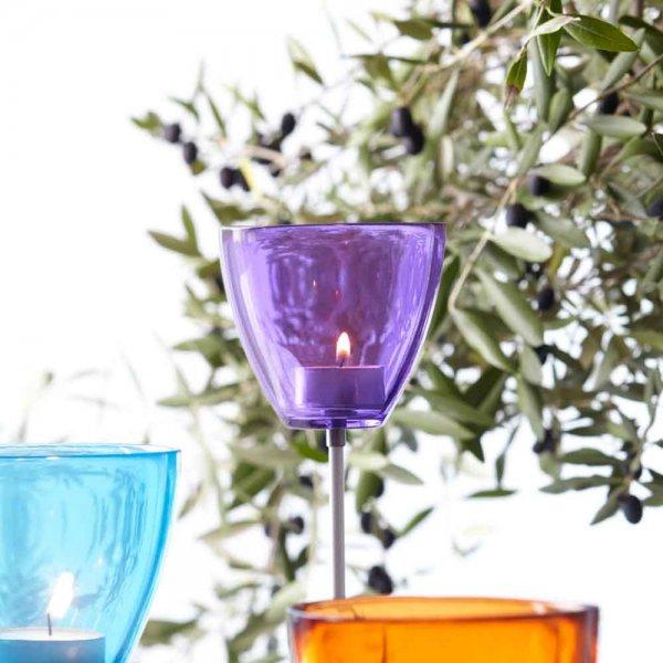 Tea-light Holder Garden purple