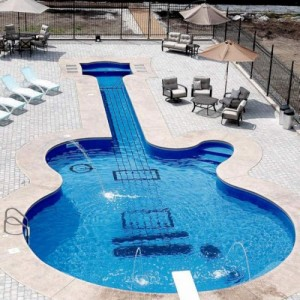Guitar Swimming Pool