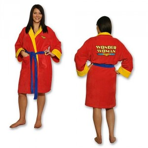 Wonder Woman Cotton Bathrobe