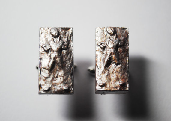 Cufflinks Han Solo Frozen in Carbonite Star Wars