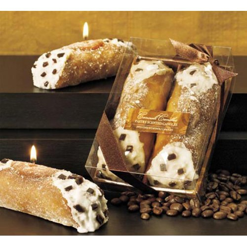 Pastry Scented Cannoli Candle 2 Piece Gift