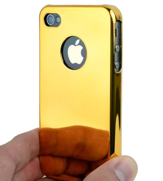 Case Cover Gold Chrome for Apple iPhone 4 4S