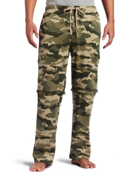 Intimo Men's Camo Convertible Sleep Pant To Jam
