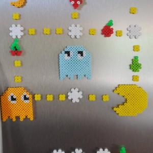 Pac-Man Refrigerator Magnet Set