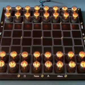 Nixie Tube Chess Board