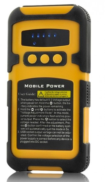 6600mAh Rugged Shockproof, Waterproof Portable Battery