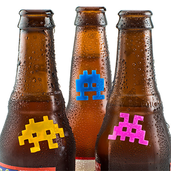 Silicone Space Invaders Drink Markers