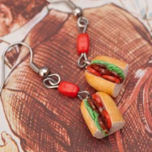 Earrings - Italian Salami Submarine Sub Sandwiches