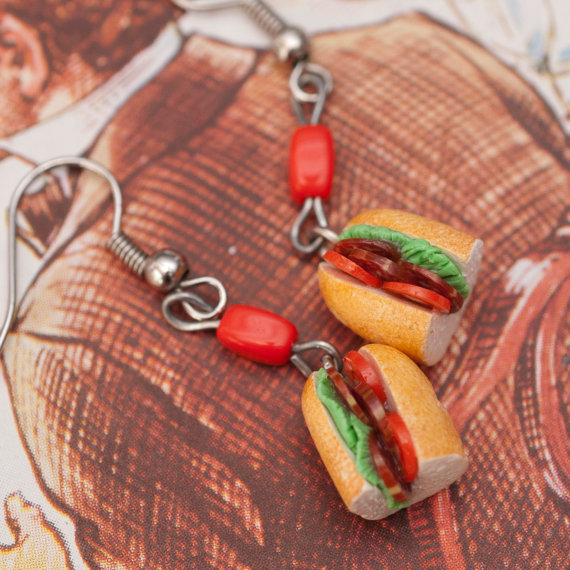 Earrings – Italian Salami Sandwiches