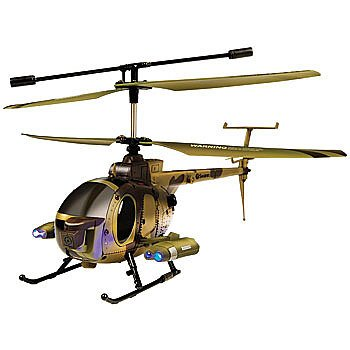 Remote Control Military Helicopter with Surveliance Video Recording Camera