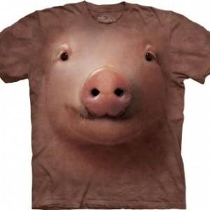 Pig Face Adult T-Shirt