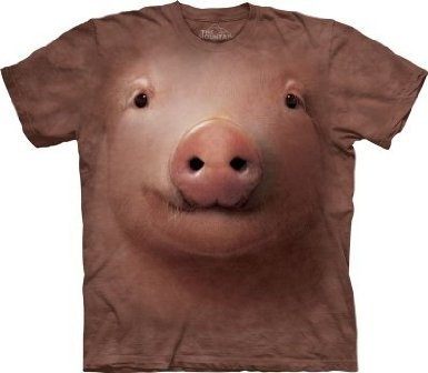 Pig Face Adult T-Shirt