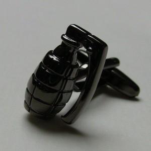 Grenade Design In Black color Men Cufflinks