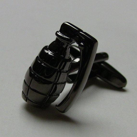 Grenade Men Cufflinks