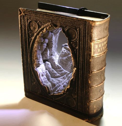Ana Lisa Alperovich Guy Laramee Carves Incredible Miniature Landscapes Into Books