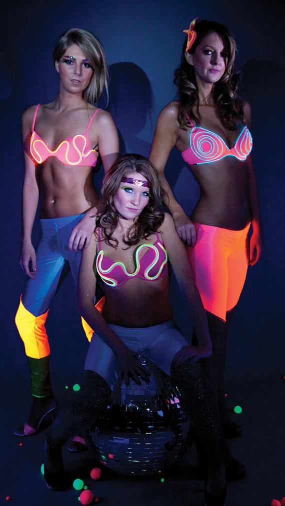 Light Up Neon Bra