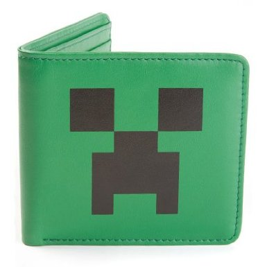 Minecraft Creeper Face Leather Wallet