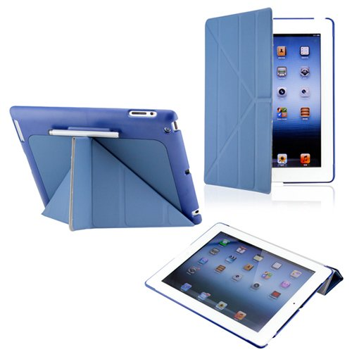 54% discount: Dark Blue Triangle Multi Fold Magnetic Smart Slim Full Body