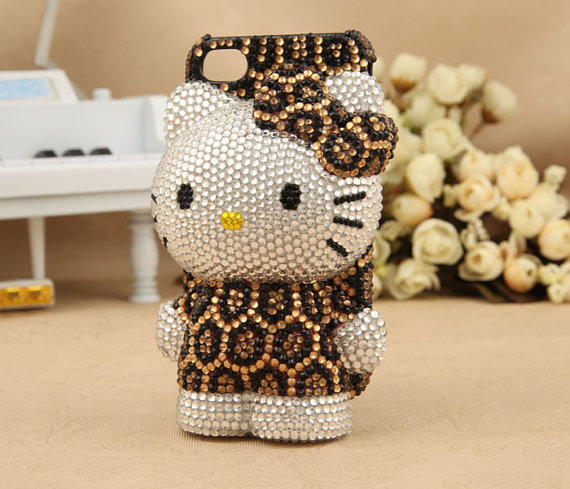 Apple iPhone 4S 4G Japanese Cute Leopard Kitty