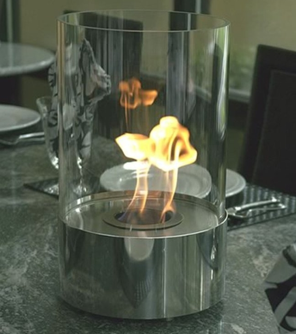 Tabletop Fireplace Tempered Clear Glass