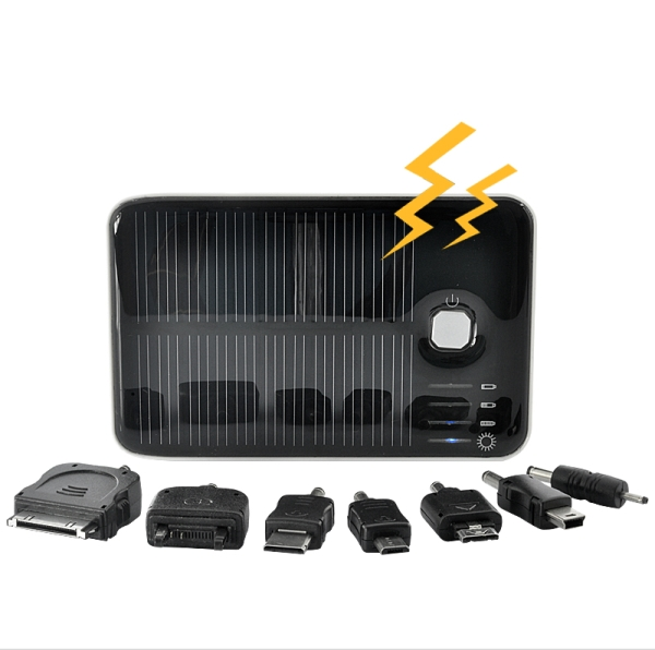 5000mAh Solar Charger and Battery with Dual Charging Ports