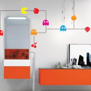 Pacman Characters Wall Decal Game Vintage Pixels