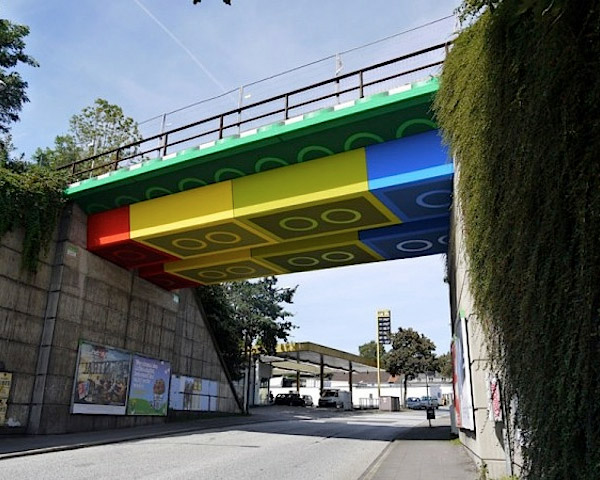 Bridge out of LEGO
