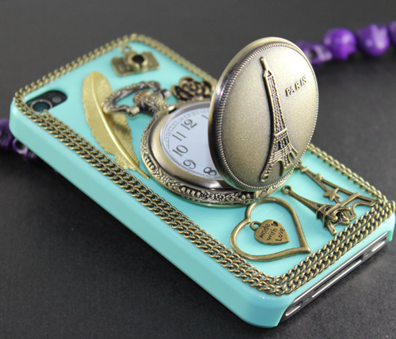 Eiffel Tower Pocket Watch  case for iPhone 4s