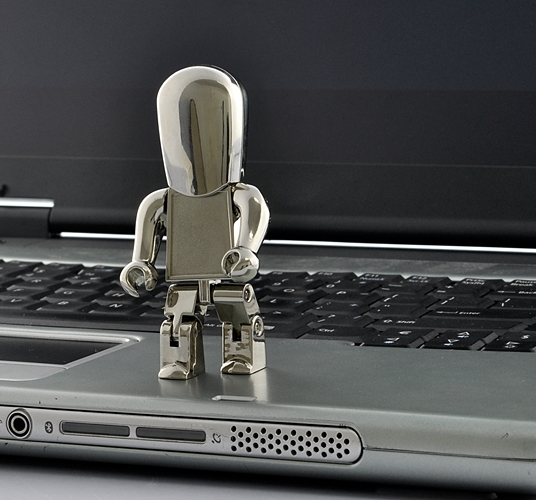 "USB Flash Drive ""ego"" Metal Robot"