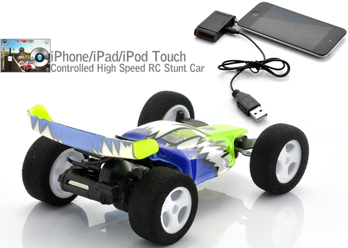iPhone/iPad/iPod Touch Controlled High Speed RC Stunt Car