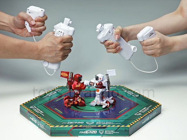 Rechargeable Robot Battle (Max 20) with Nunchaku Control