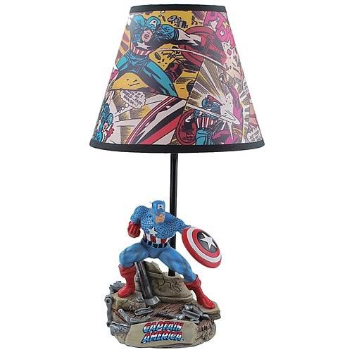 Captain America Statue Lamp