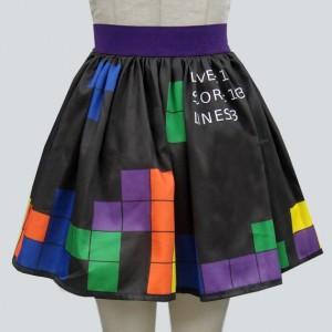 Video Game Border Print Full Skirt