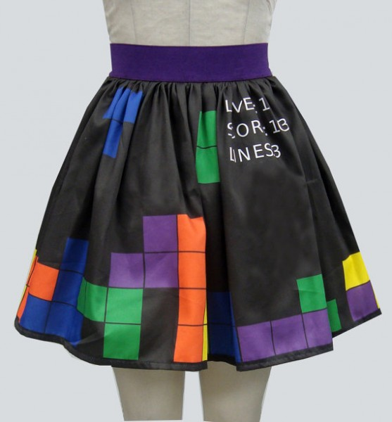 Video Game Border Print Full Skirt