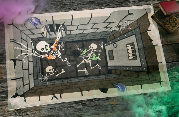 Skeleton Dungeon Halloween Floor Rug Decoration