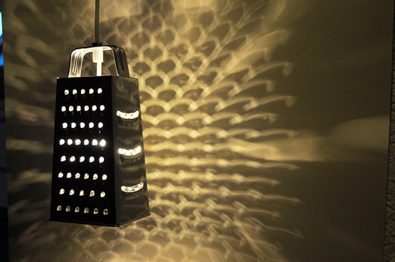 Hanging pendant grater lamp / light