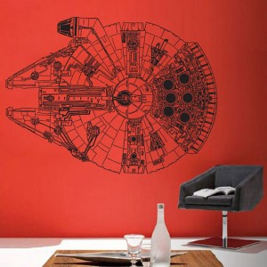 Star Wars Millennium Falcon V.3 Vinyl Wall Art Decal