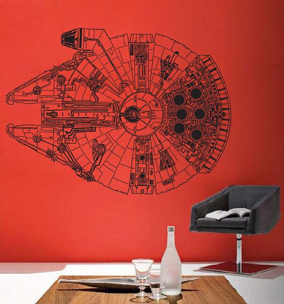 Star Wars Millennium Falcon V.3 Vinyl Wall Art Decal
