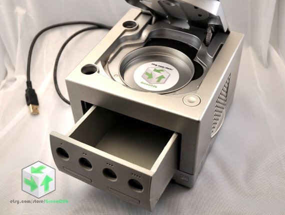 Upcycled GameCube Desk Organizer