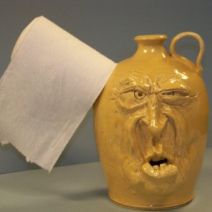 Toilet Paper Holder Facejug