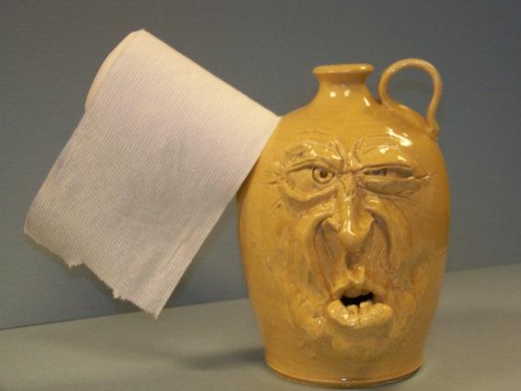 Toilet Paper Holder Facejug