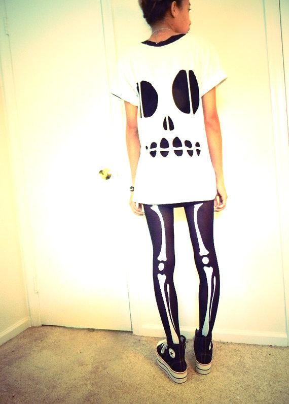 Skull Cut Out T shirt