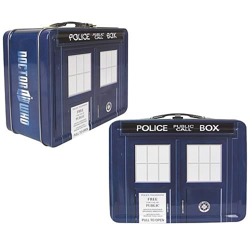 Doctor Who Tardis Tin Lunch Box
