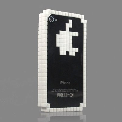Tetris Design Silicon Gel Bumper Cover Case for iPhone4S / 4