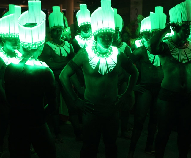 LED carnival costumes for rio olympic handover