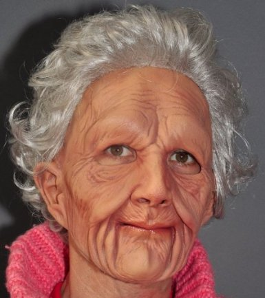 Old Woman Adult Mask