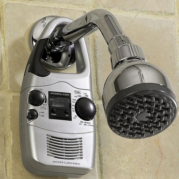 Water-resistant Shower Radio & Lcd Clock