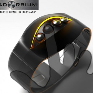 QuadOrbium LED watch touch sensitive display