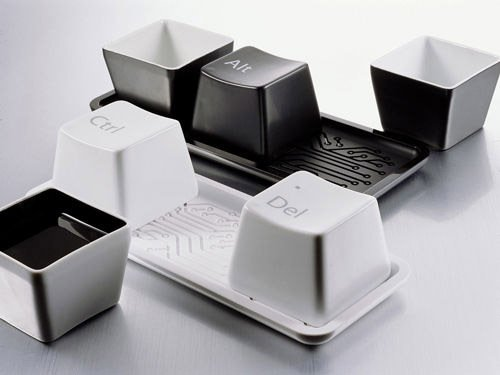 Keyboard Coffee Tea Mug Cup Set