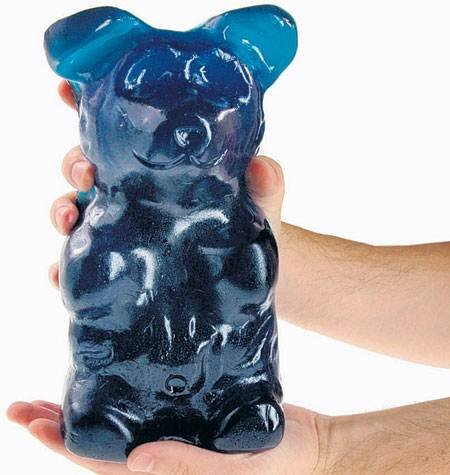 World's Largest Gummi Bear - Blue Raspberry